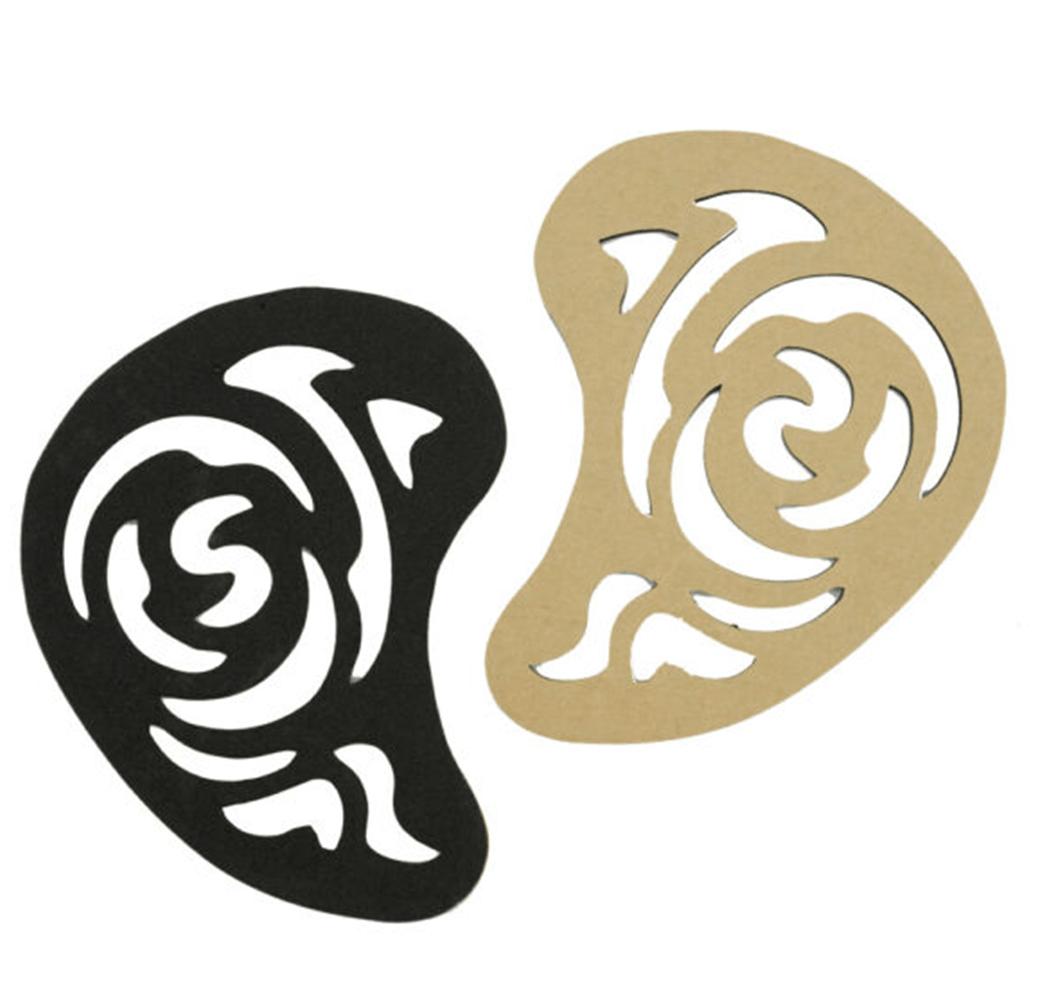 Molde em E.V.A Adesivo para Desenho no Cabelo X-018 com 3 peças