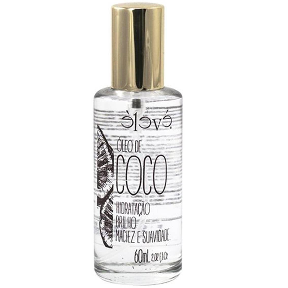 Óleo de Coco Élevé - Hidratação, brilho e Maciez 60 ml