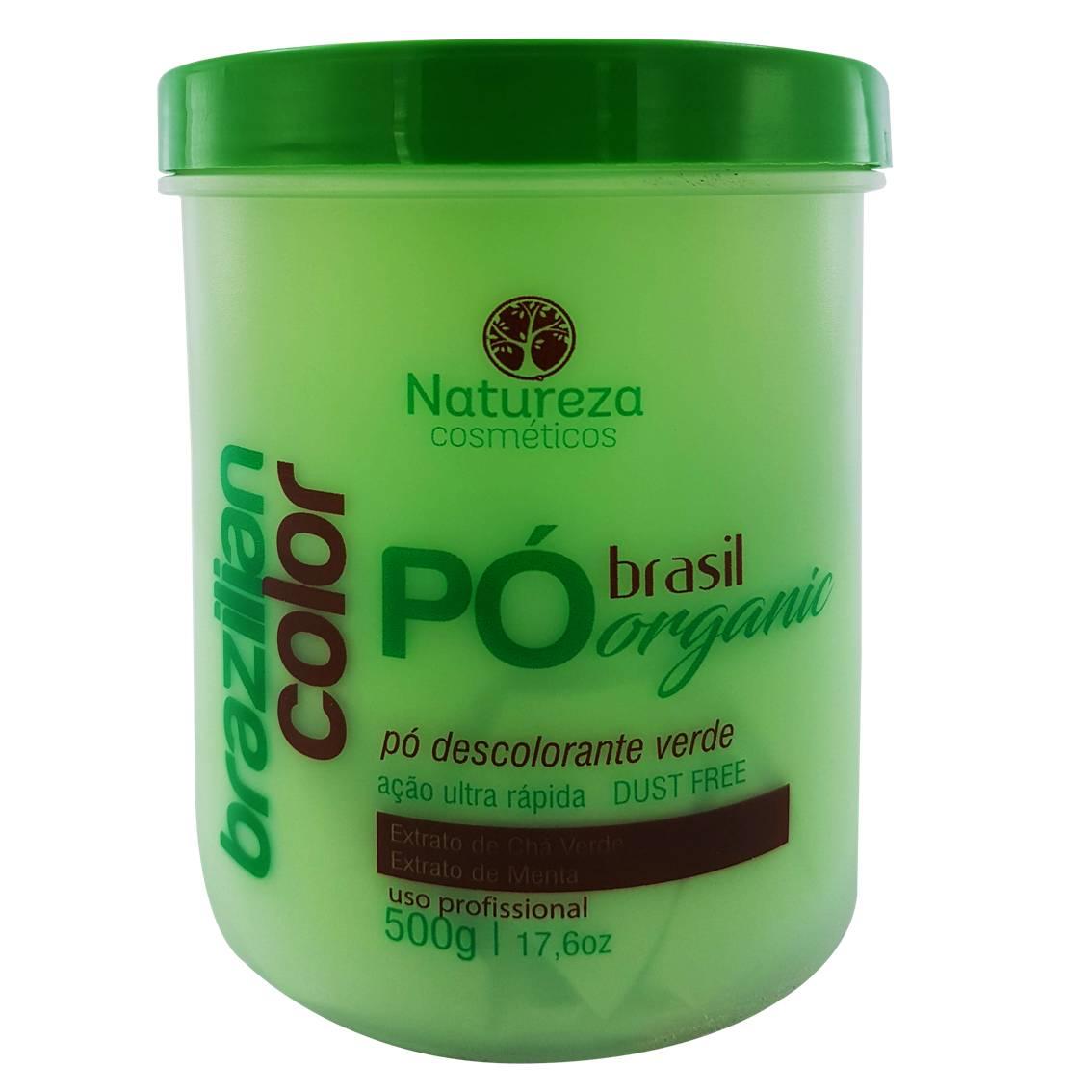 Pó descolorante Verde Orgânico Brasil 500g - Natureza Cosméticos