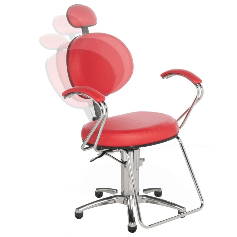 Poltrona Carol Luxo para Cabeleireiro e Barbeiro (Fixa ou Reclinável) - Cromit