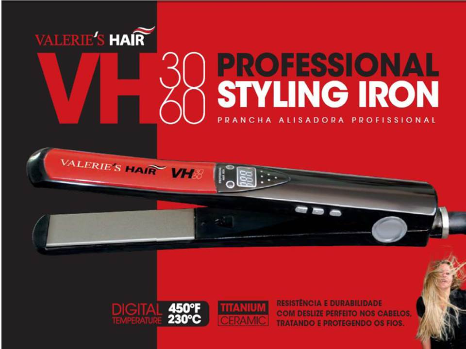 Prancha Valeries Hair Nano Titânio Bivol Madrid Cosméticos