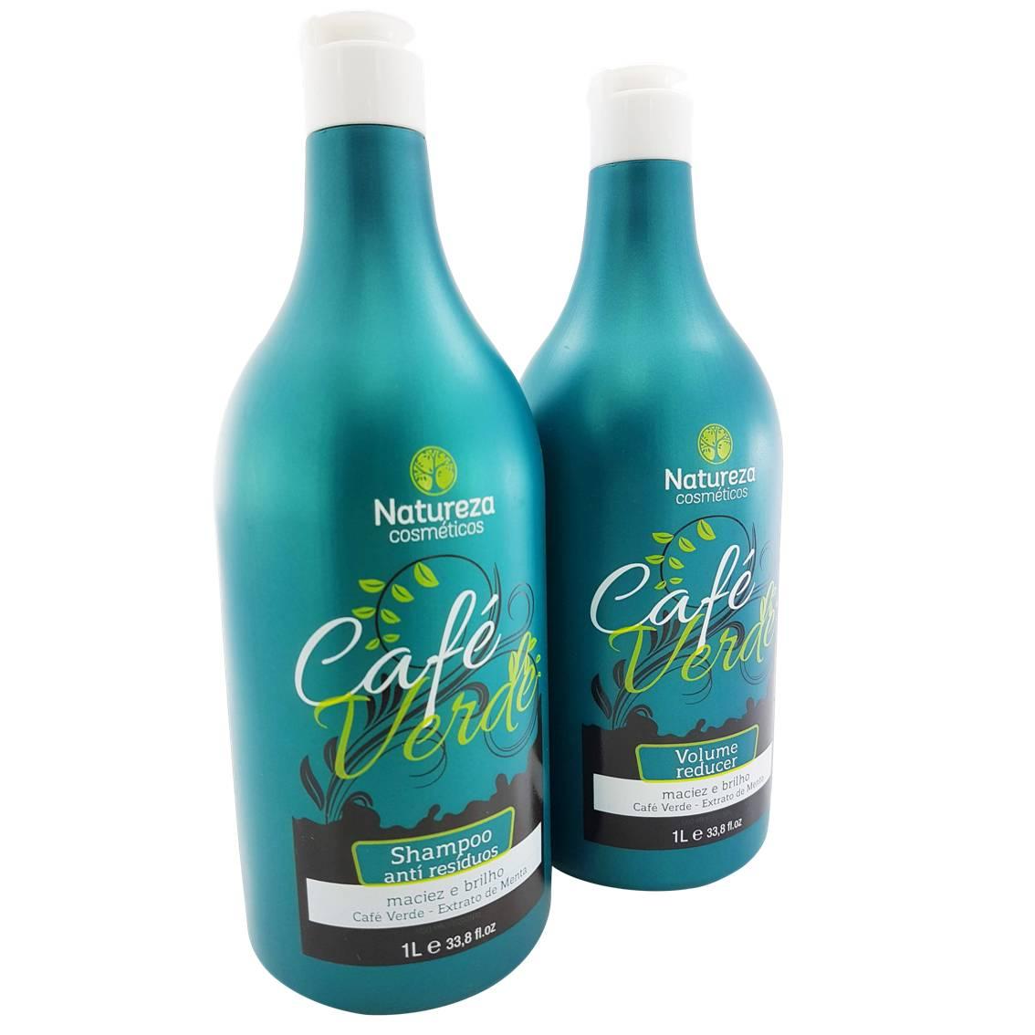 Progressiva de Café Verde - Shampoo 1 litro + Redutor 1 litro