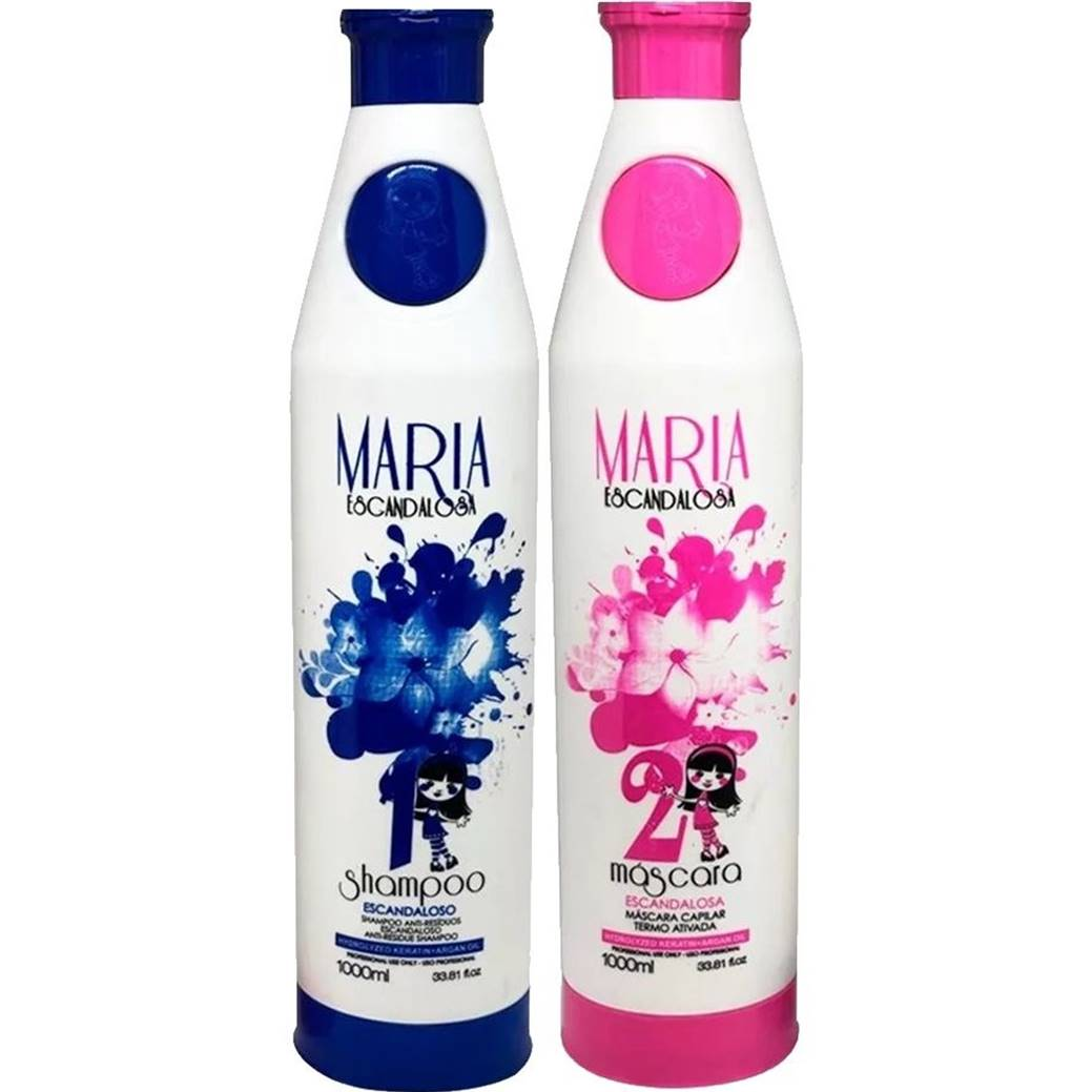 Progressiva Maria Escandalosa - Shampoo e Ativo (2x1000ml)