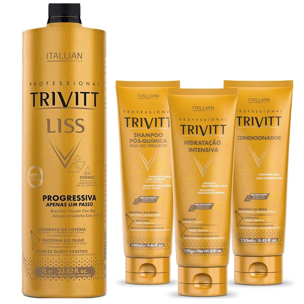Progressiva Tris Liss Trivitt com Kit Hidratação Intensiva Trivitt