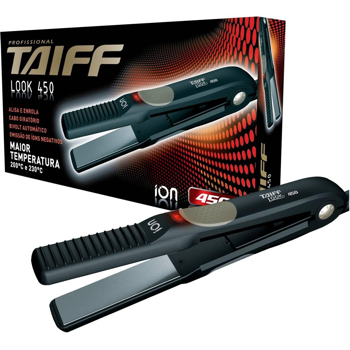 Secador Taiff Fox Ion Rose 2200 W + Prancha Taiff Look 450 F