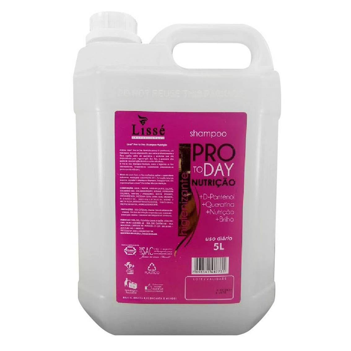Shampoo de Galão Nutrição Instantânea Pro To Day - 5 litros
