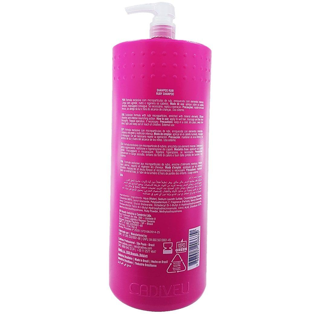 Shampoo De Lavatório Glamour Rubi Cadiveu 3 litros