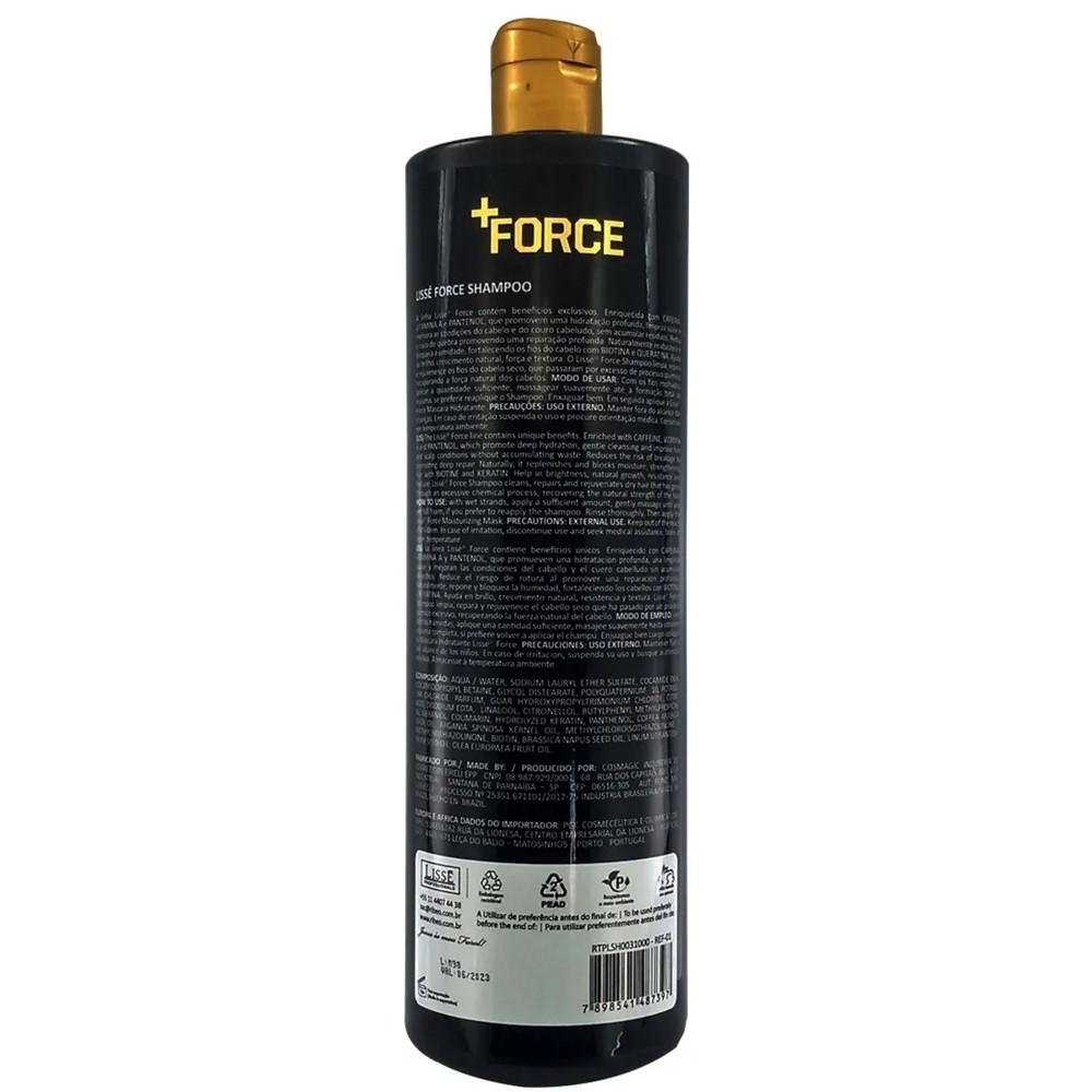 Shampoo Para Crescimento +FORCE  Profissional Lissé - 1 Litro