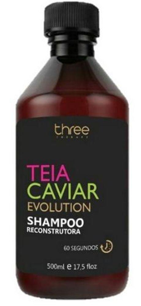 Shampoo Reconstrutor 60 segundos Teia Caviar – Three Therapy 500 ml