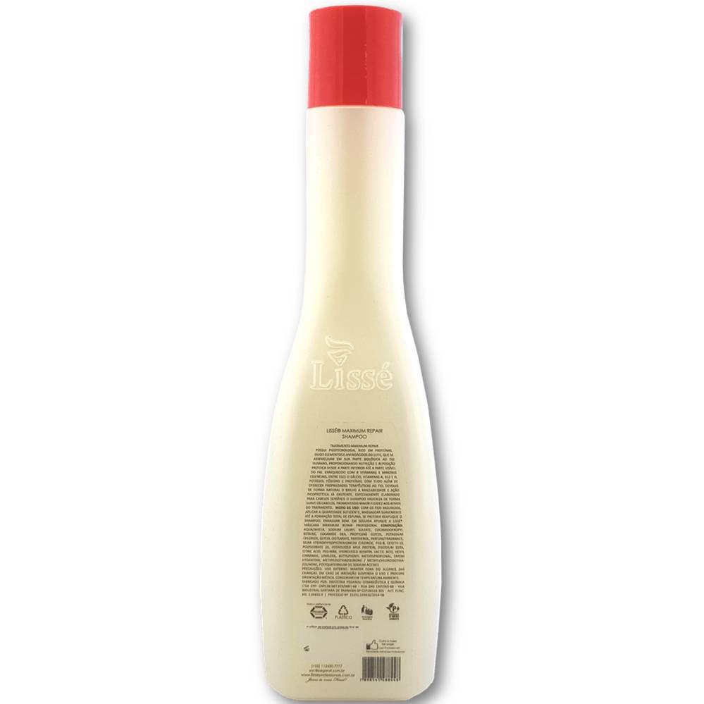 Shampoo Reparação Máxima Lissé – Recharge and Nutri-Cationic 300ml