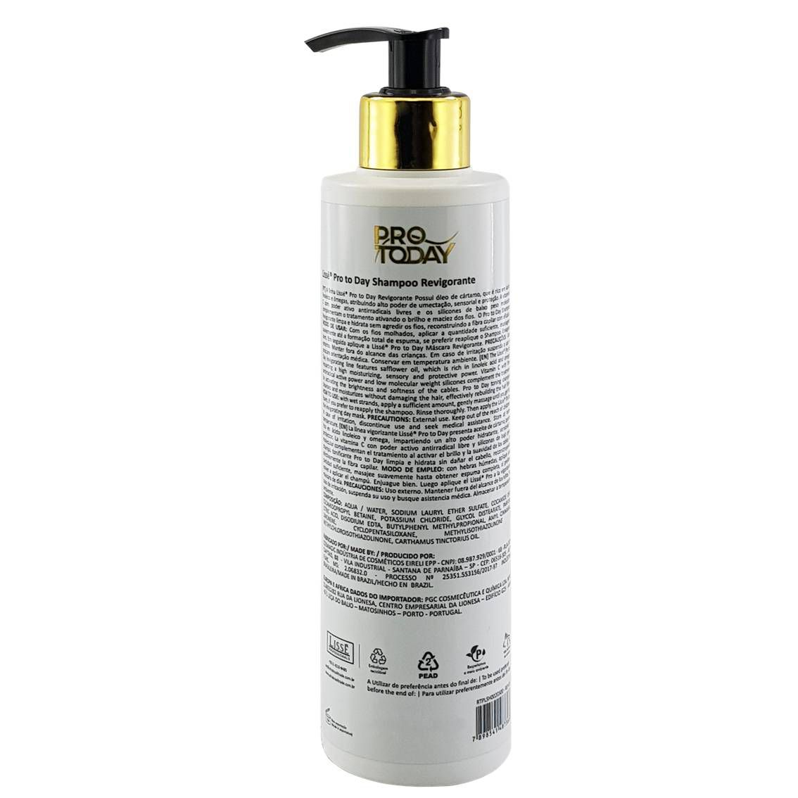 Shampoo Revigorante PRO TODAY Lissé 300 ml