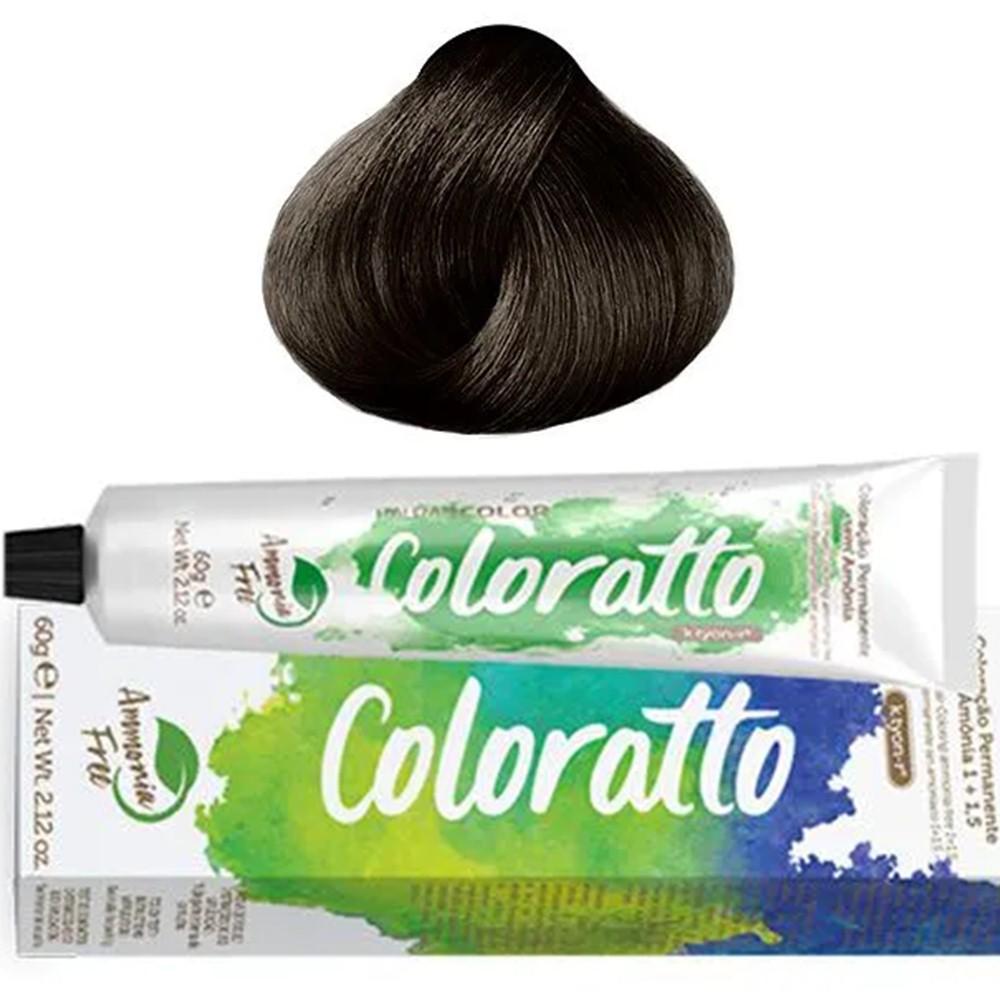 Tonalizante Profissional Castanho 4.0 Itallian Color Coloratto sem amônia 60g