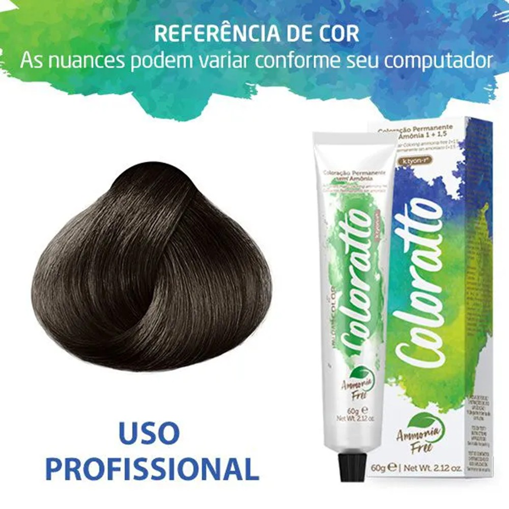 Tonalizante Profissional Castanho Claro 5.0 Itallian Color Coloratto sem amônia 60g