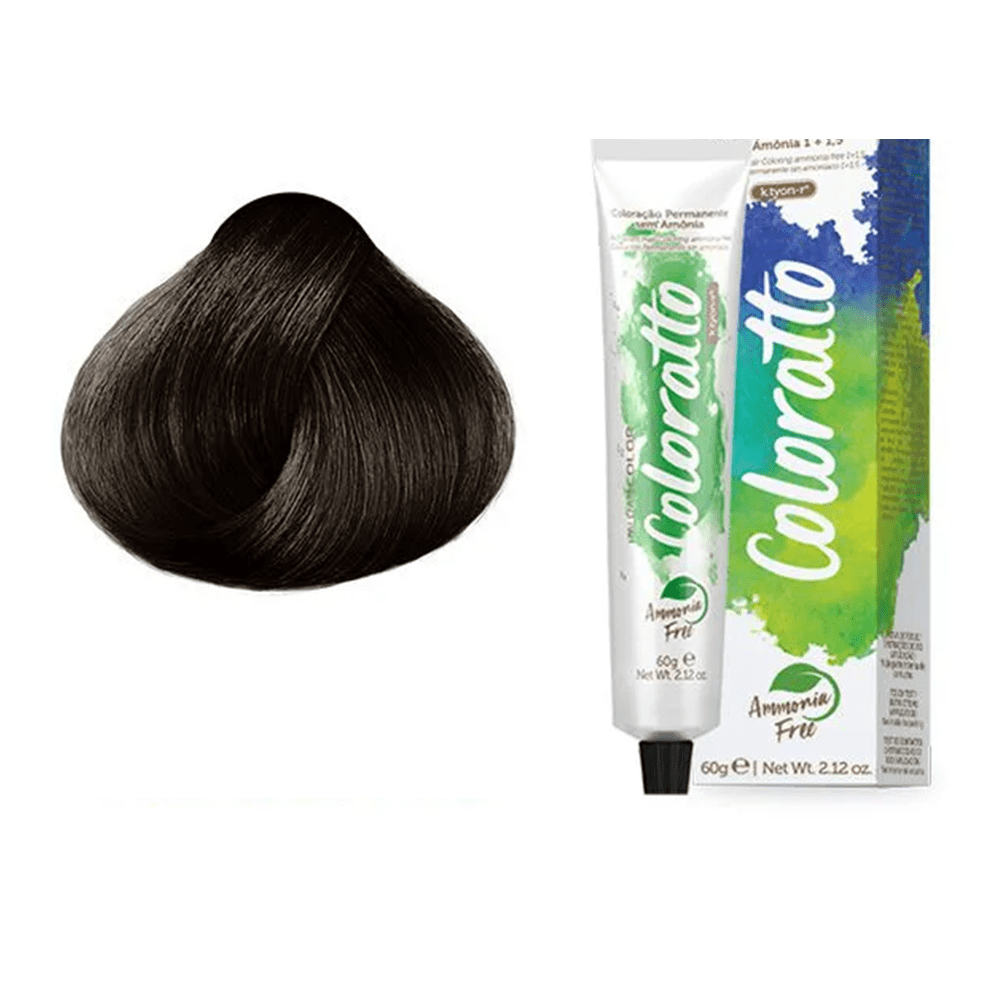 Tonalizante Profissional Chocolate 6.7 (67) Itallian Color Coloratto sem amônia 60g