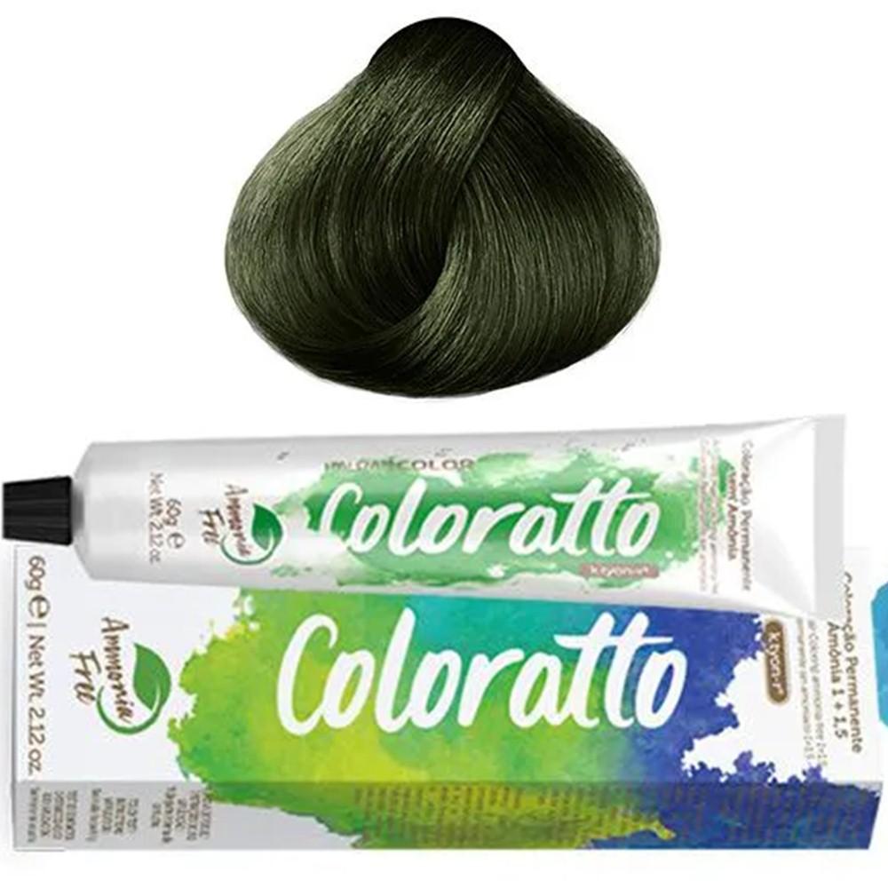 Tonalizante Profissional Green (verde) 0.91 Itallian Color Coloratto sem amônia 60g