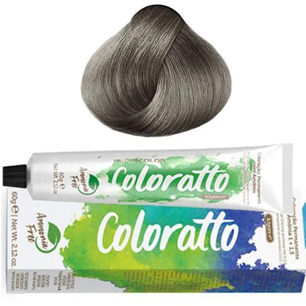 Tonalizante Profissional Louro Clarissimo Cinza 9.1 (19) Itallian Color Coloratto sem amônia 60g