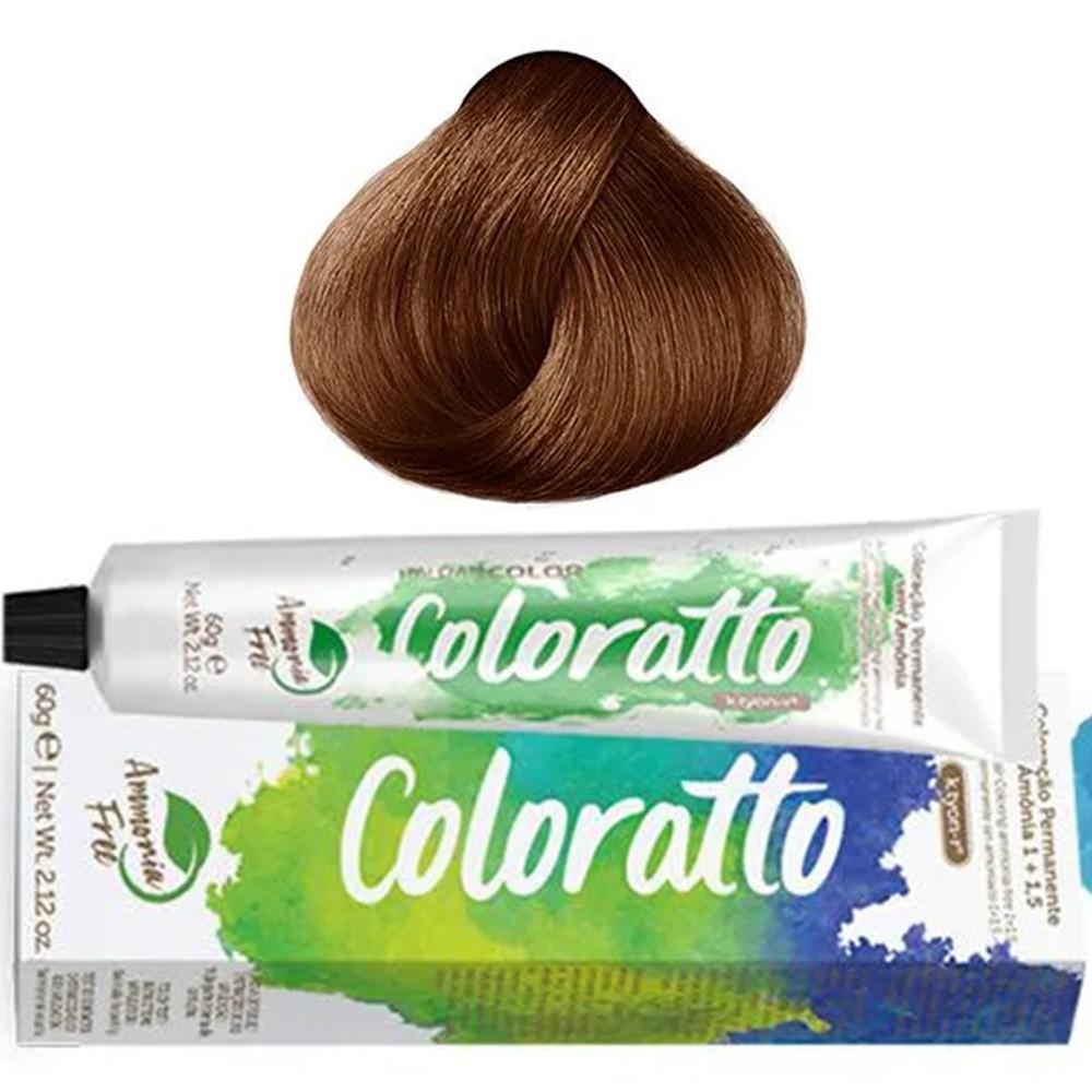 Tonalizante Profissional Louro Claro Cobre 8.4 Itallian Color Coloratto sem amônia 60g