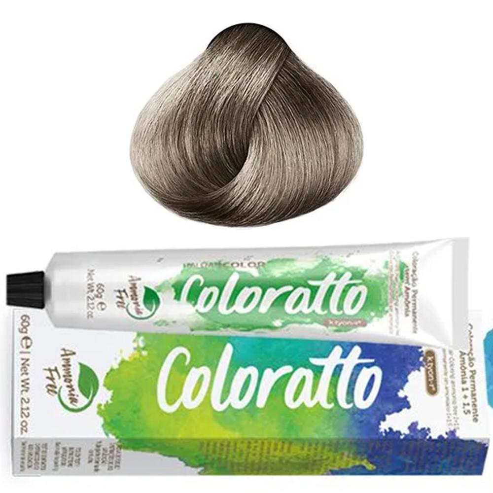 Tonalizante Profissional Louro Platina Cinza 10.1 Itallian Color Coloratto sem amônia 60g