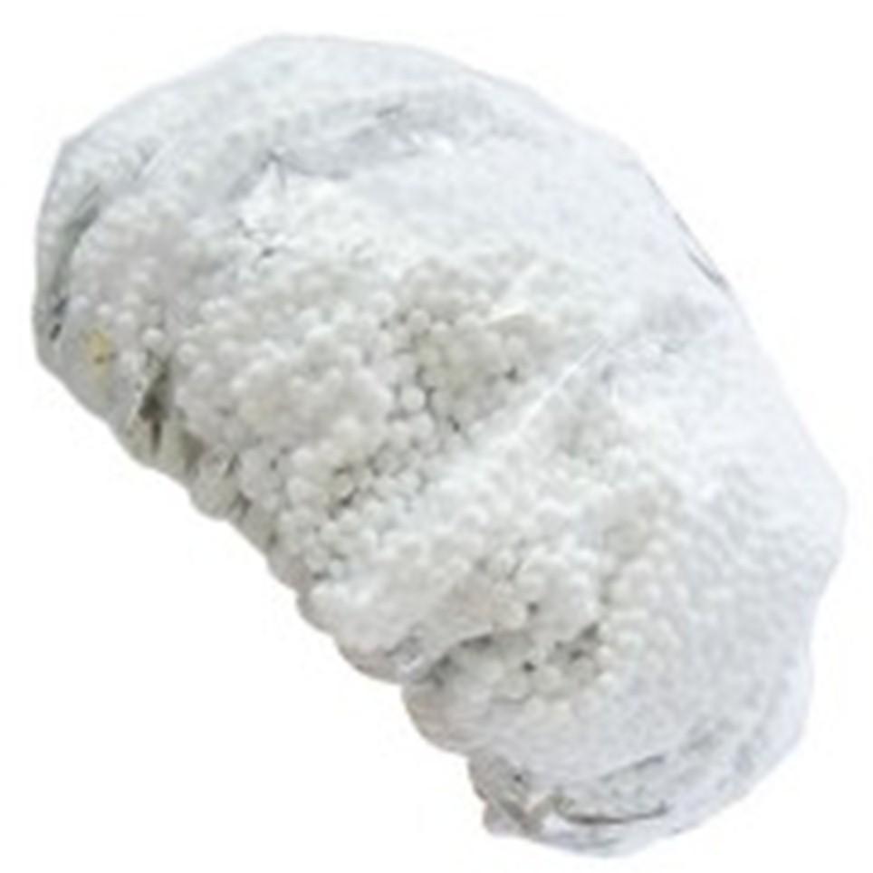 Touca para Hidratação Metalizada Com Bolinha De Isopor - Santa Clara