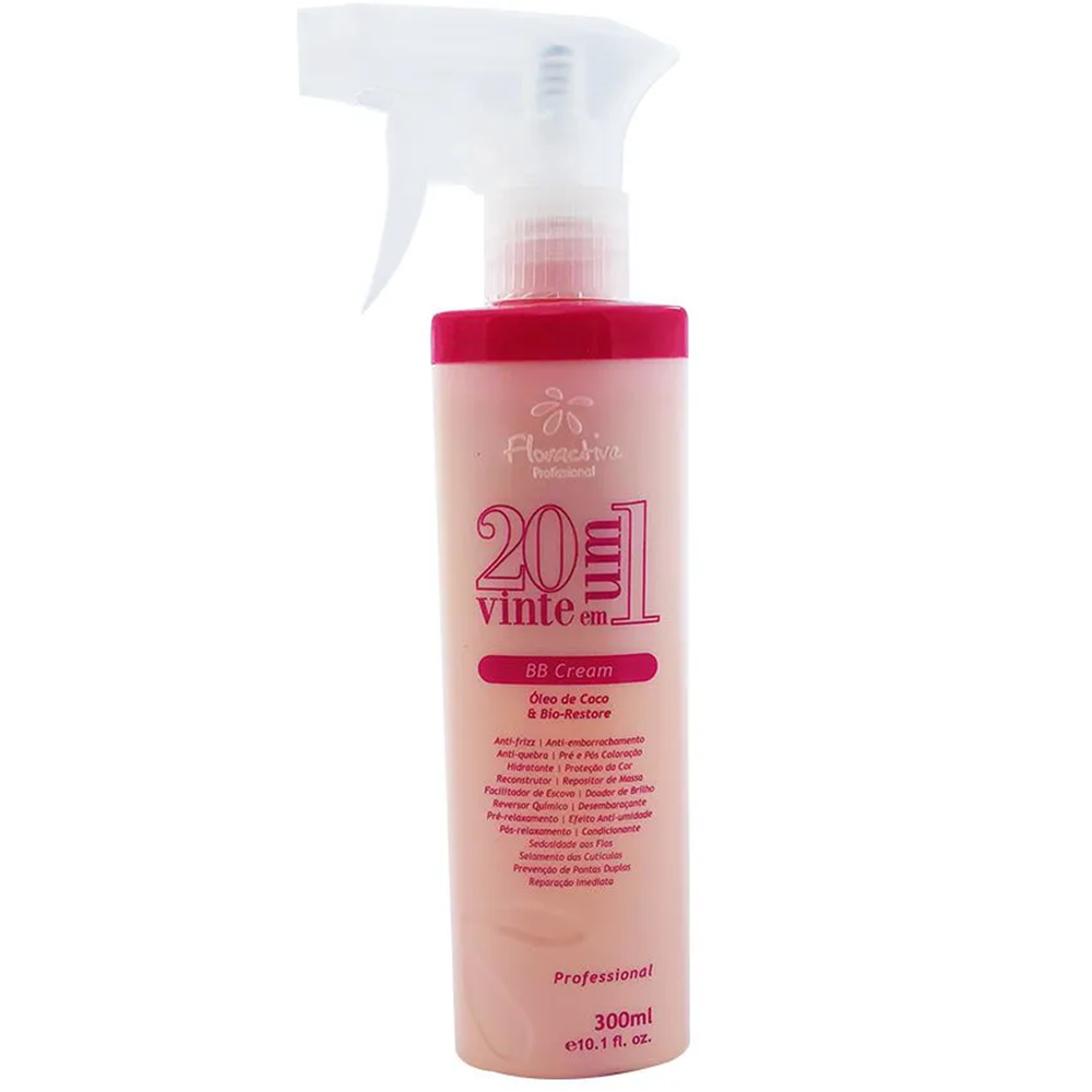 Tratamento Restaurador 20 em 1 Floractive BB Cream – 300 ml