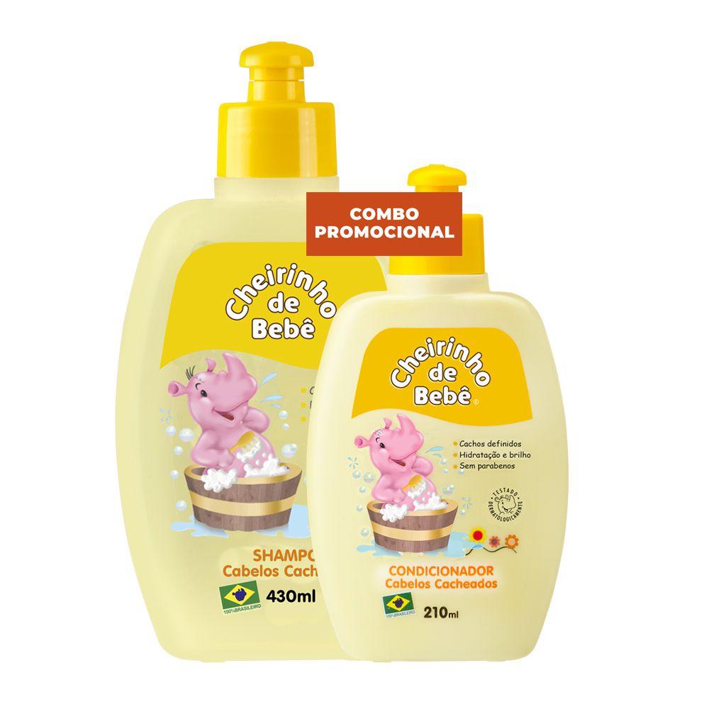Combo Prom. Shampoo Cab. Cacheados 430 e Condicionador Cheirinho de Bebê 210 ml