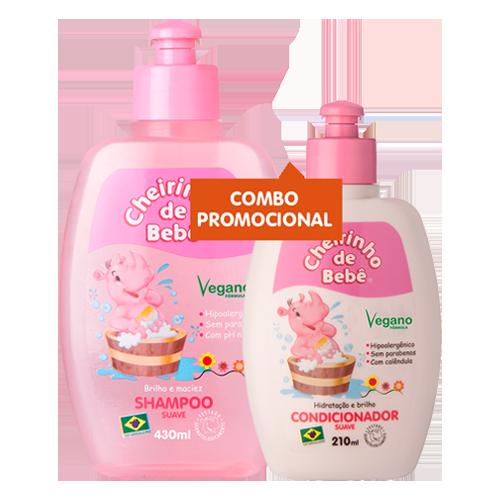 Combo Promocional - Shampoo 430ml e Condicionador Cheirinho de Bebê 210 ml