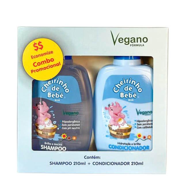 Combo Promocional - Shampoo Blue 210ml e Condicionador Cheirinho de Bebê 210ml