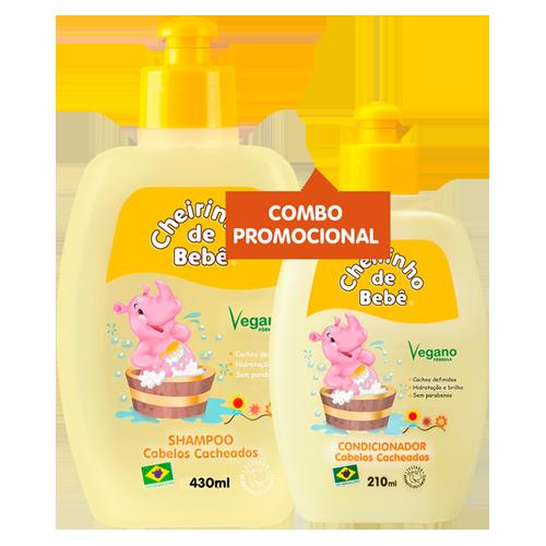 Combo Promocional - Shampoo Cab. Cacheados 430 e Condicionador Cheirinho de Bebê 210 ml