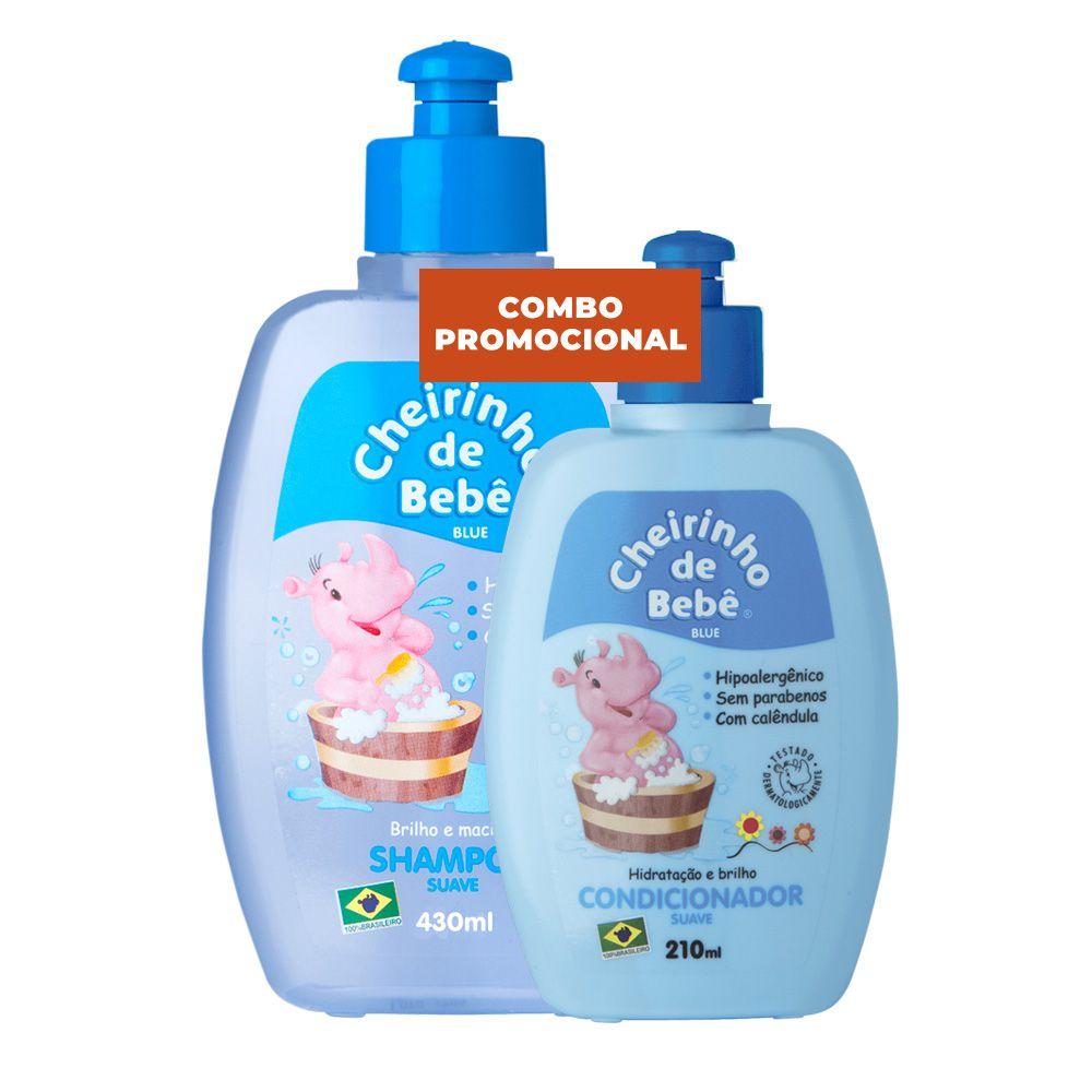 Combo Promococional - Shampoo Blue 430 e Condicionador Cheirinho de Bebê  210ml