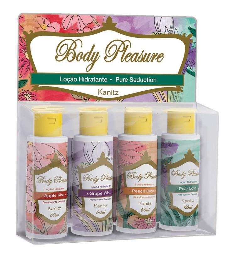 Estojo Mix Mini Loção Hidratante Body Pleasure 4x60ml