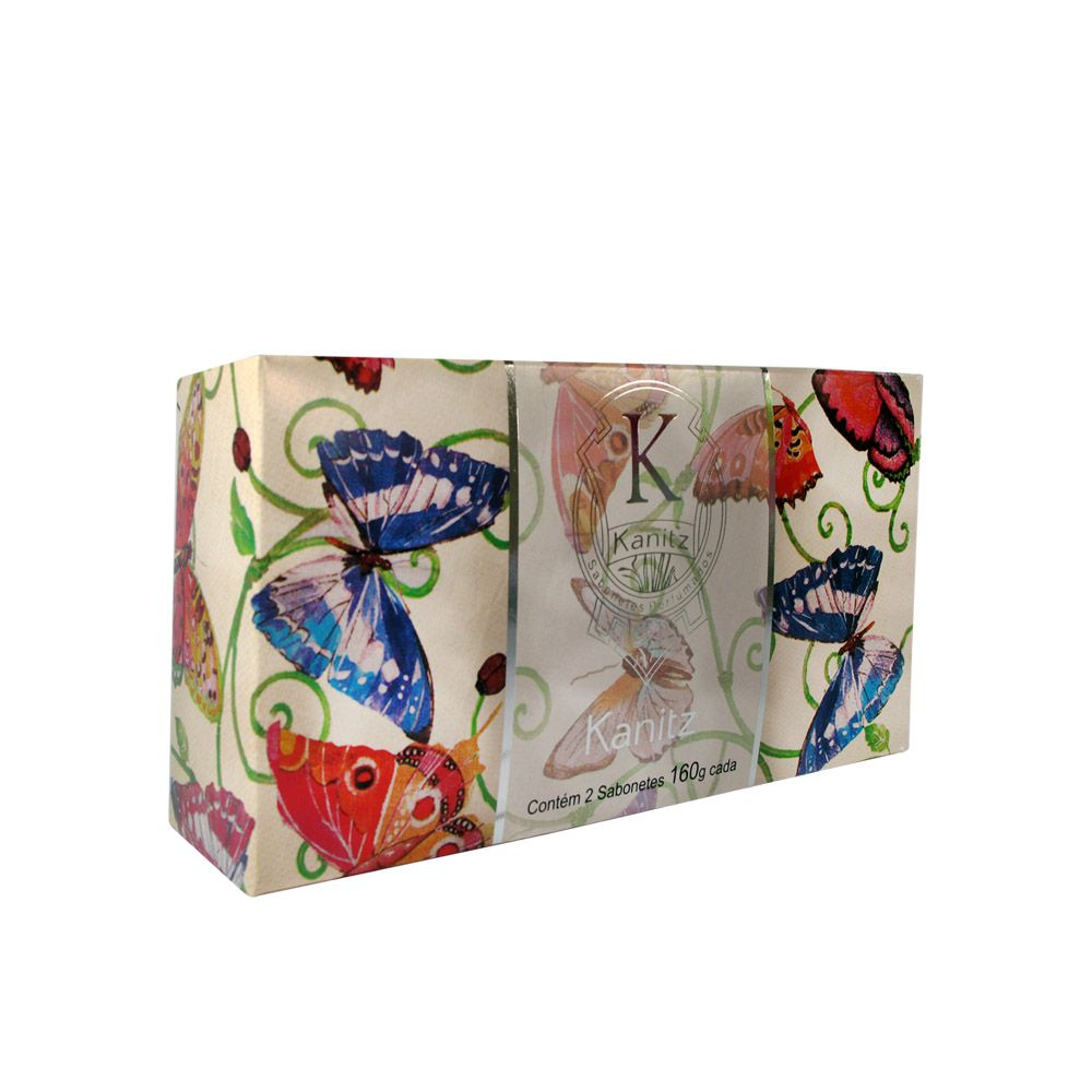 Estojo Butterfly Soap 2x160g