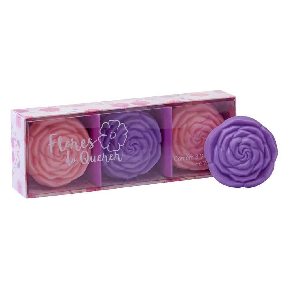 Estojo Sabonete Flores do Querer 3x70g