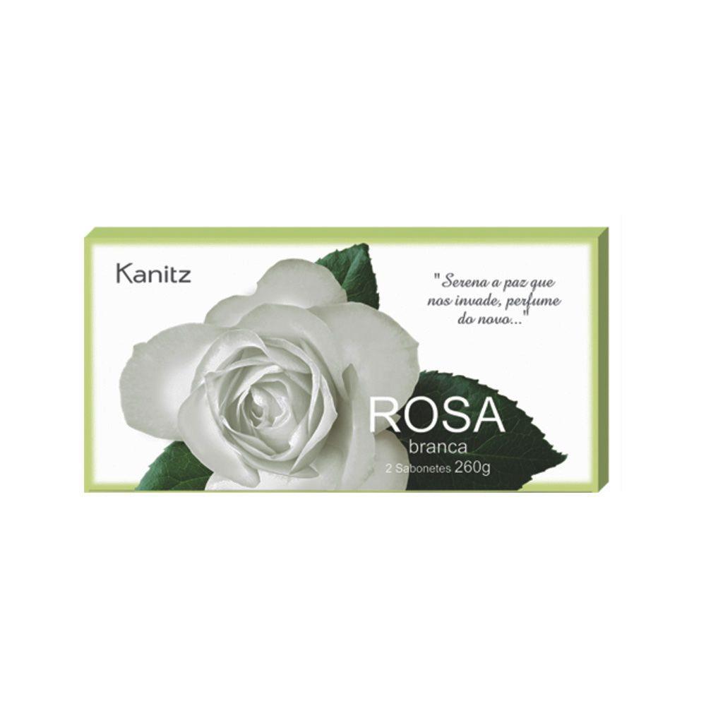 Estojo Sabonete Rosa Branca 2x130g