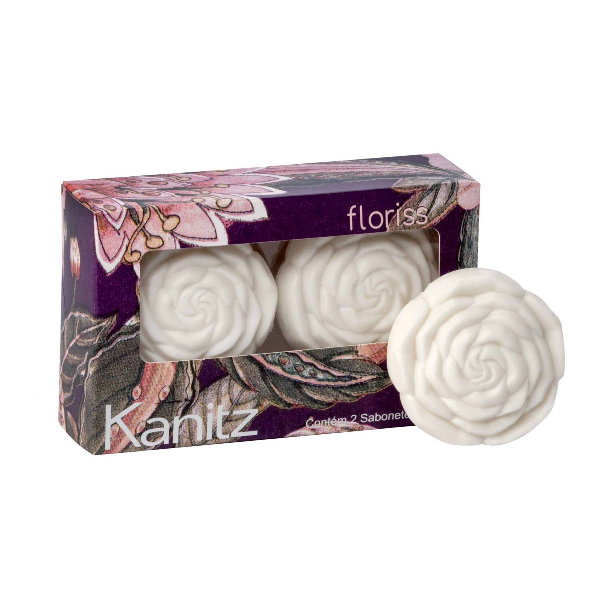 Estojo Sabonete Rosa Floriss Roses In Bloom 2x70g