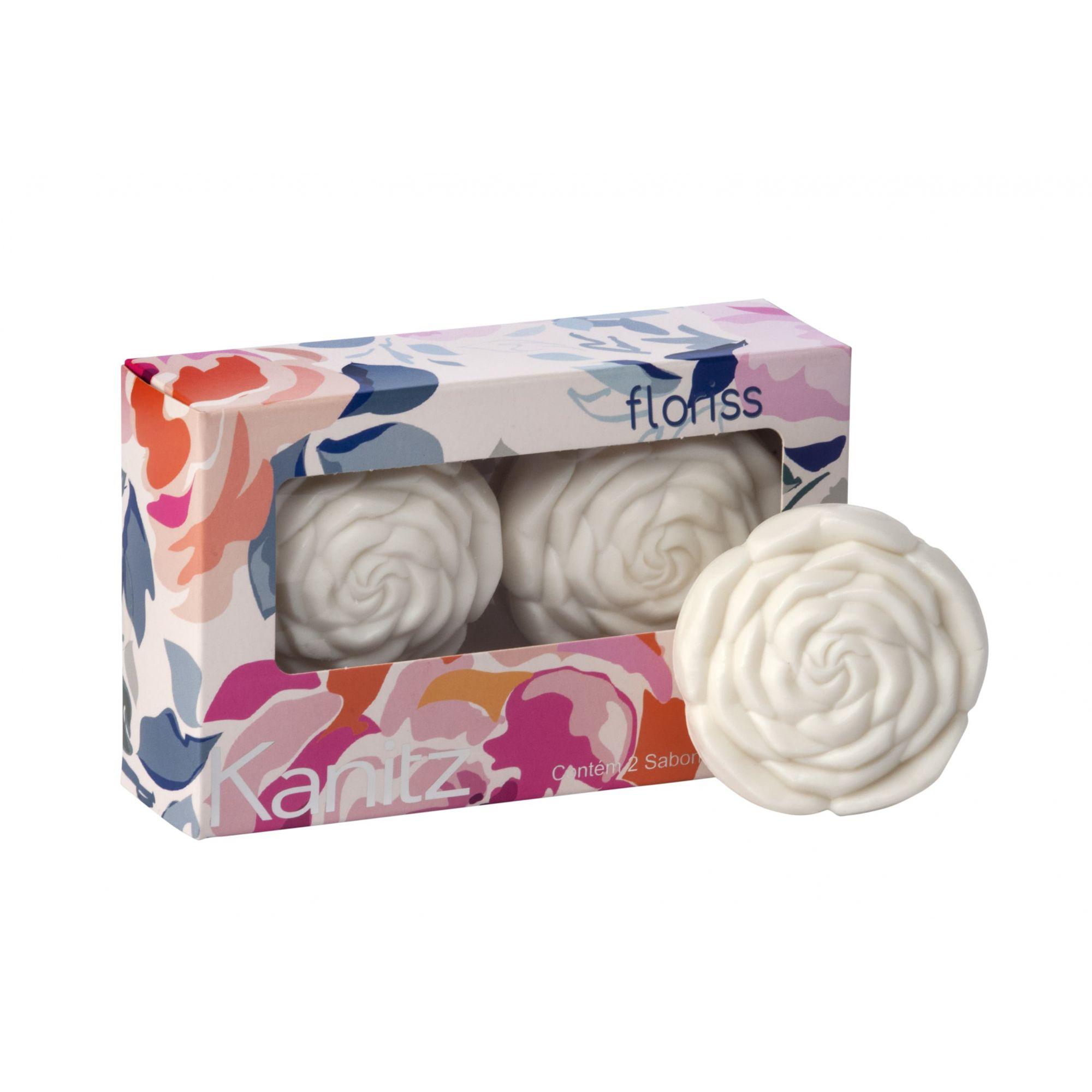 Estojo Sabonete Rosa Floriss Tea Rose 2x70g