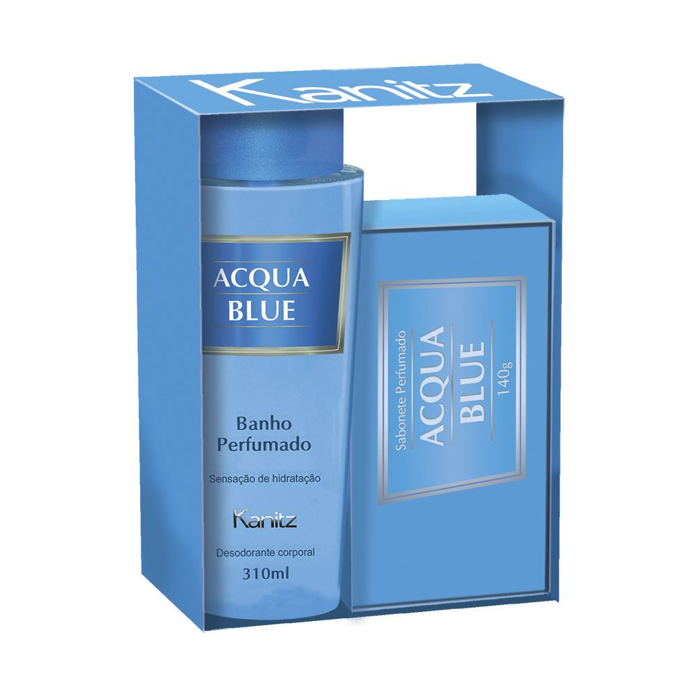 Kit Deo Colônia Acqua Blue 310ml+Sabonete 140g