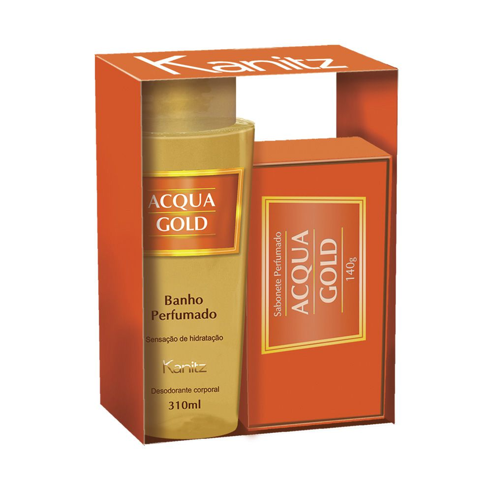 Kit Deo Colônia Acqua Gold 310ml+Sabonete 140g