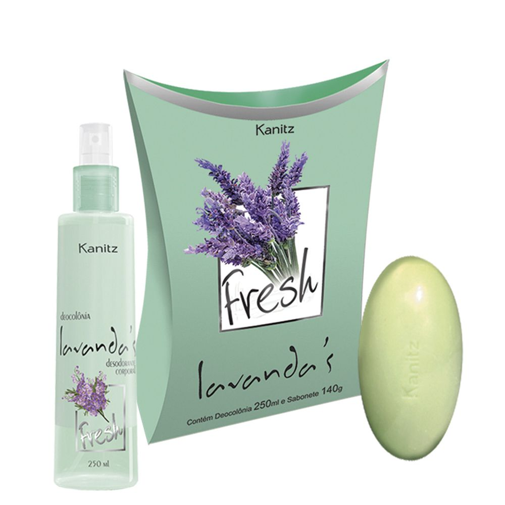 Kit Deo Colônia Lavanda's Fresh 250ml+Sabonete 140g