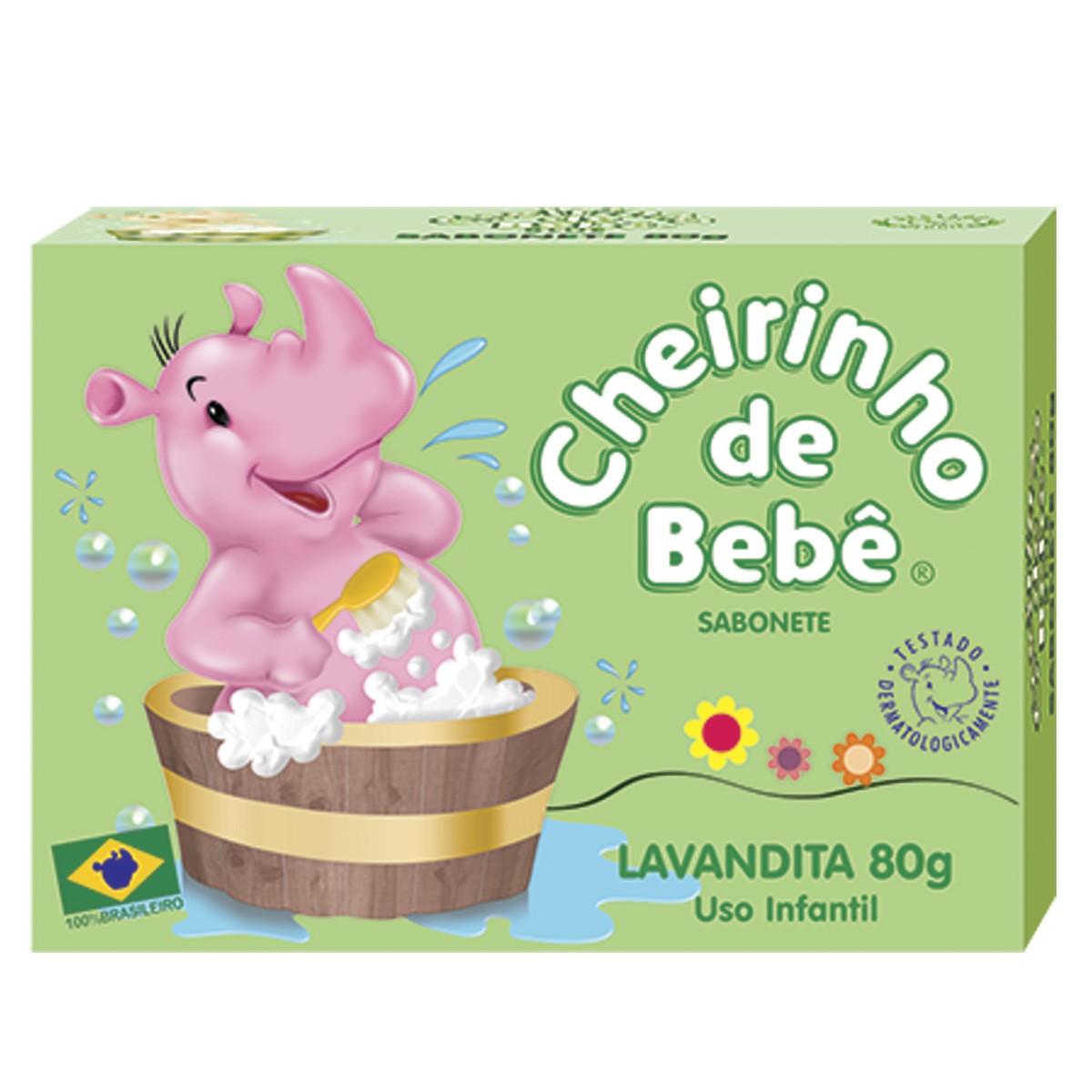 Sabonete Cheirinho de Bebê Lavandita 80g