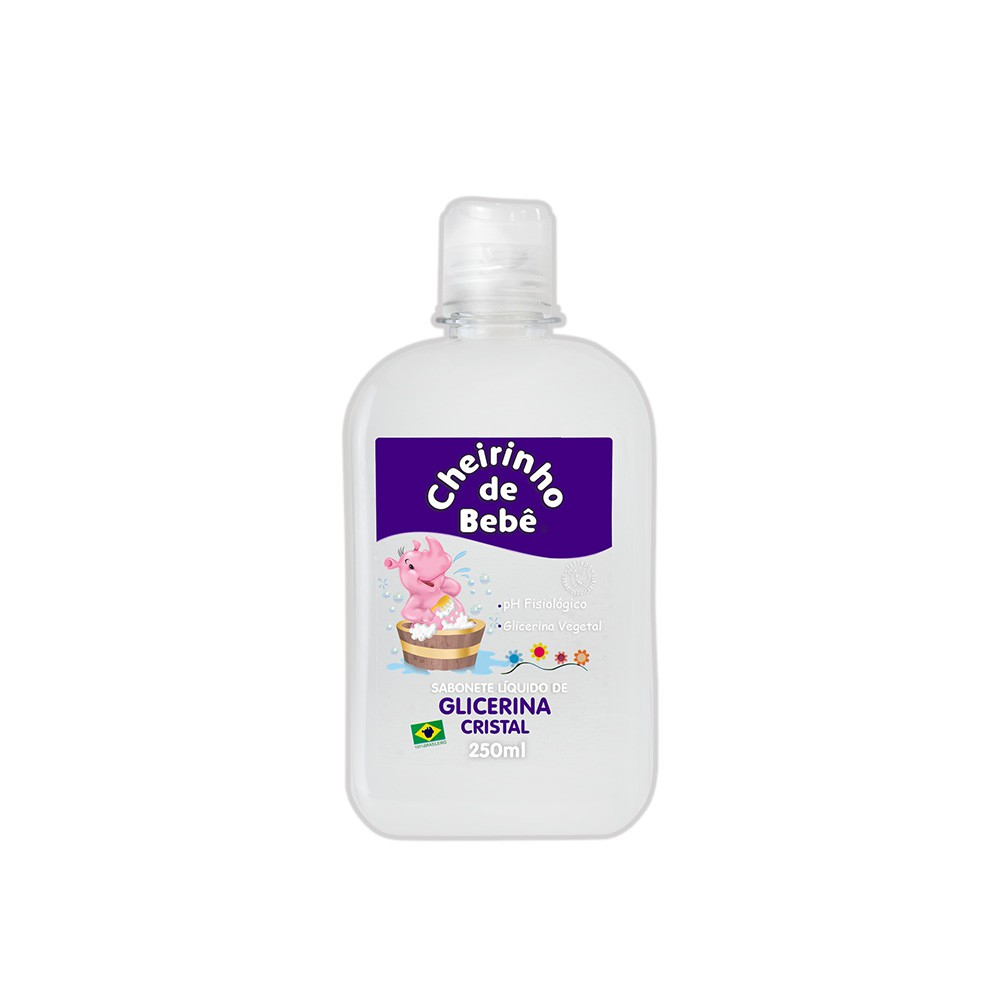 Sabonete Líquido Glicerinado Cheirinho de Bebê Cristal 250 ml