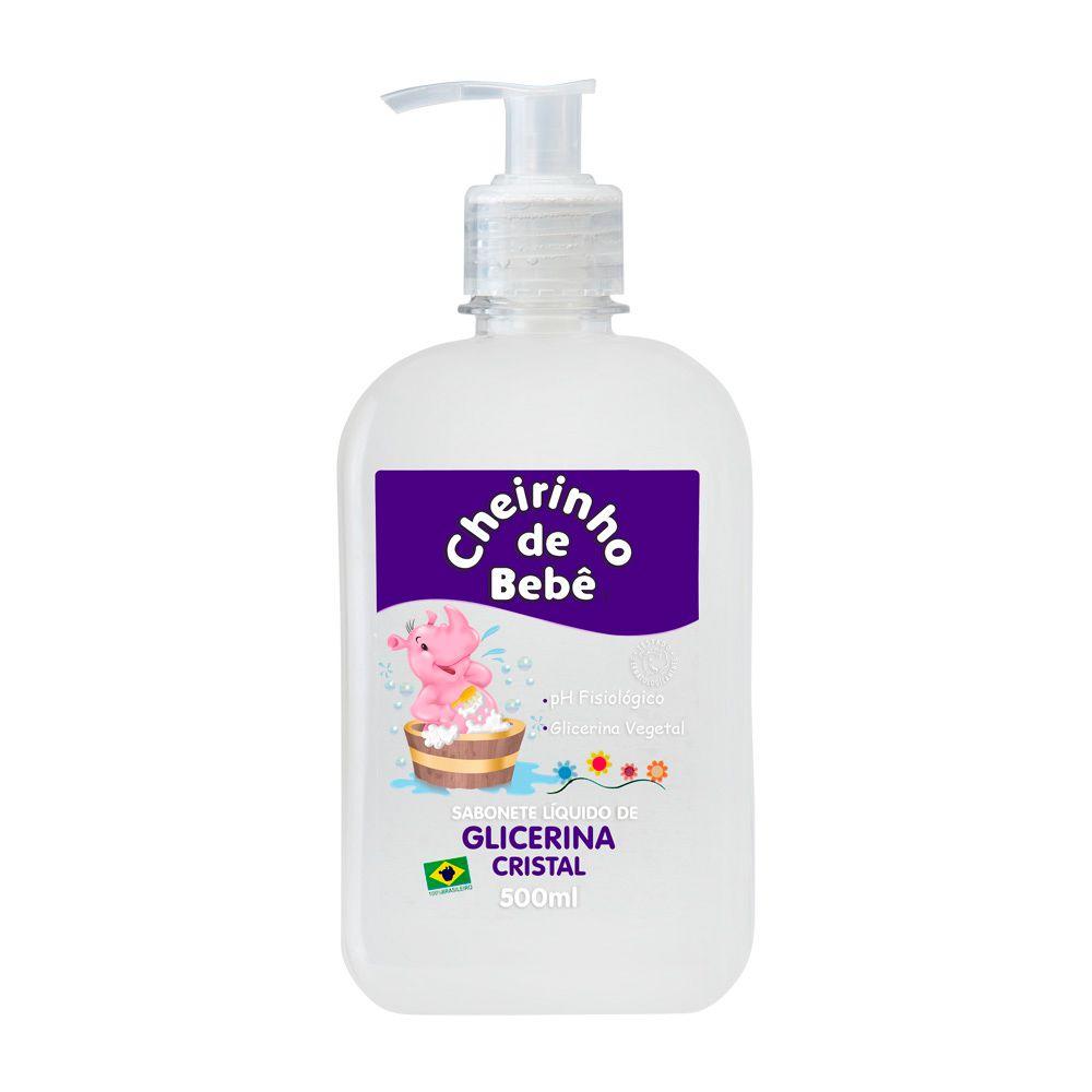 Sabonete Líquido Glicerinado Cheirinho de Bebê Cristal  500 ml
