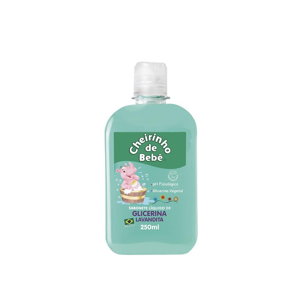 Sabonete Líquido Glicerinado Cheirinho de Bebê Lavandita 250 ml