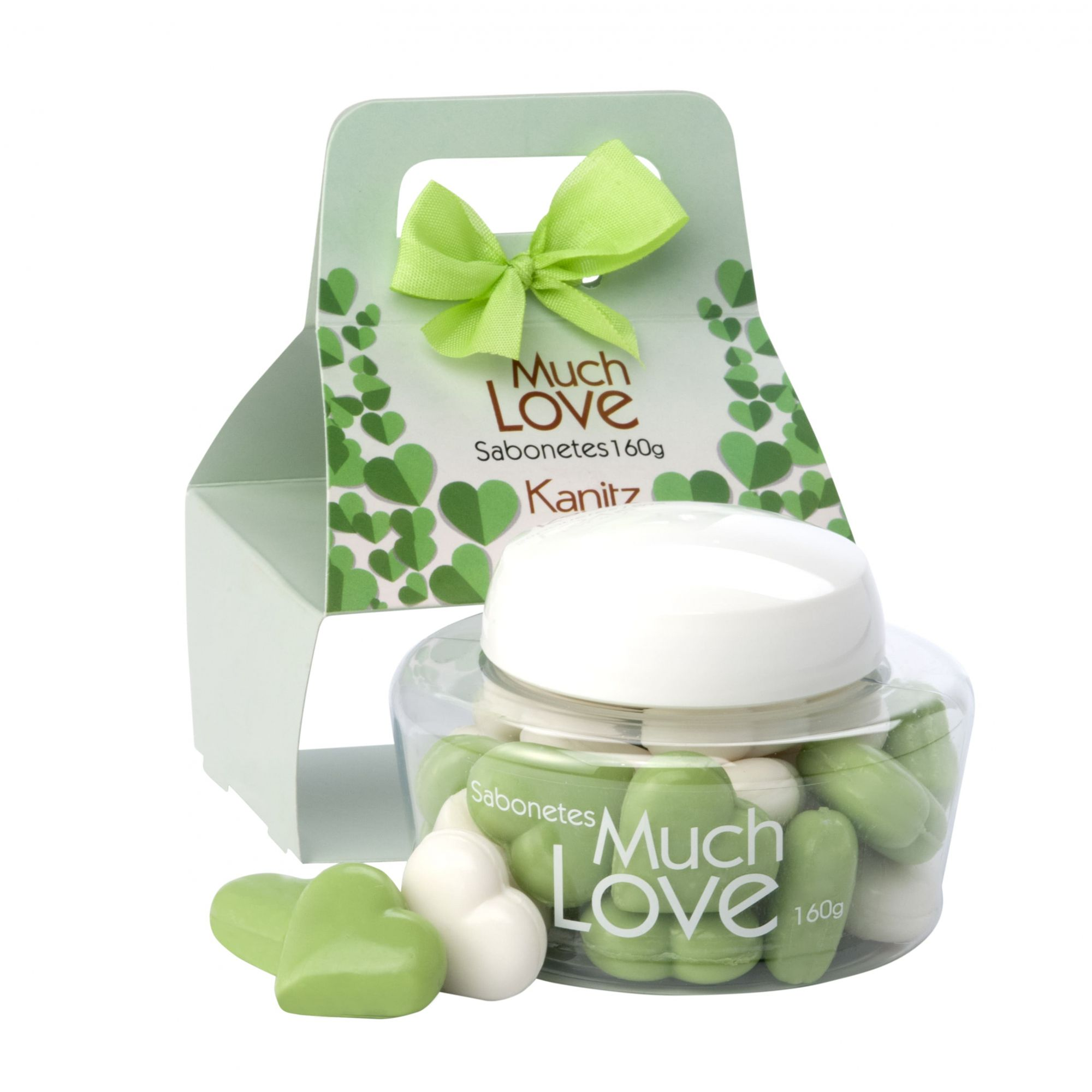 Sabonete Much Love Mini Coração Green 160g