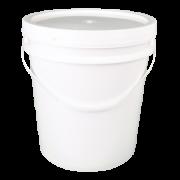 Balde plástico com tampa - 18 litros - Kit com 05 unidades