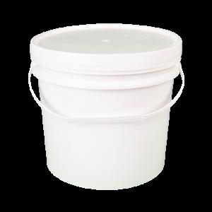 Balde plástico com tampa - 10 litros - Kit com 05 unidades