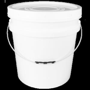 Balde plástico com tampa - 30 litros - Kit com 05 unidades
