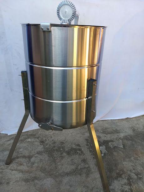 Centrifuga manual Inox para 08 quadros. para mel de abelhas, centrifuga apicultura