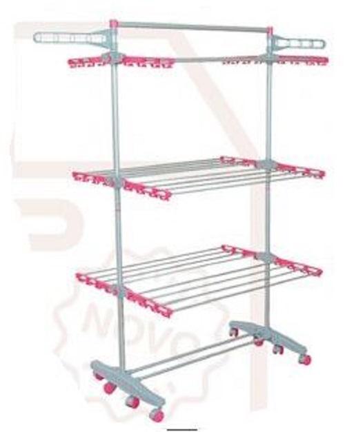 Varal de chão, 03 andares, aluminio