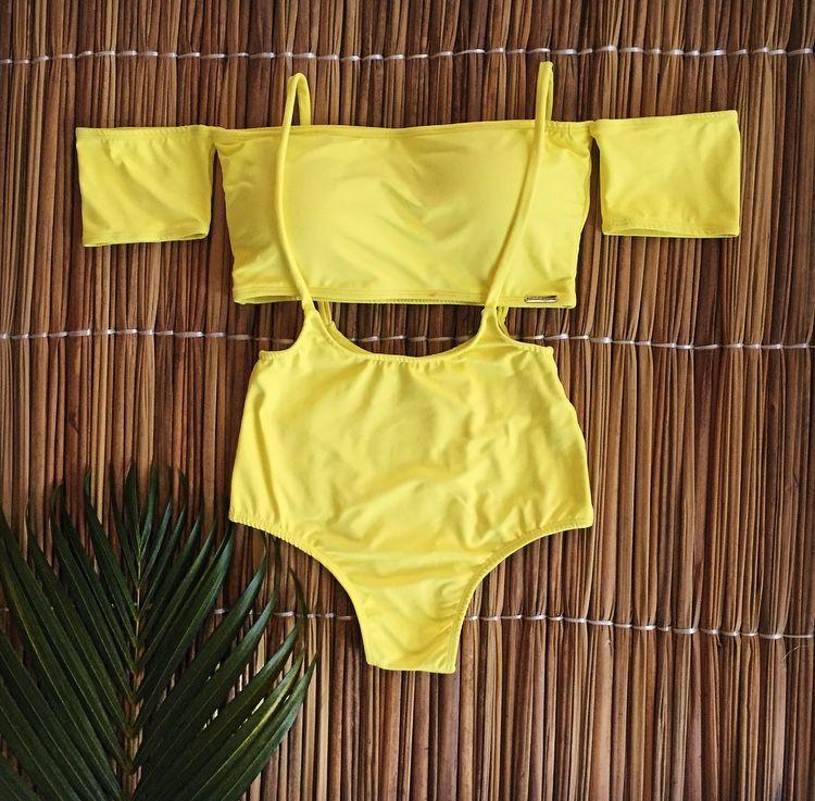 Maiô Hot Pants em Poliéster