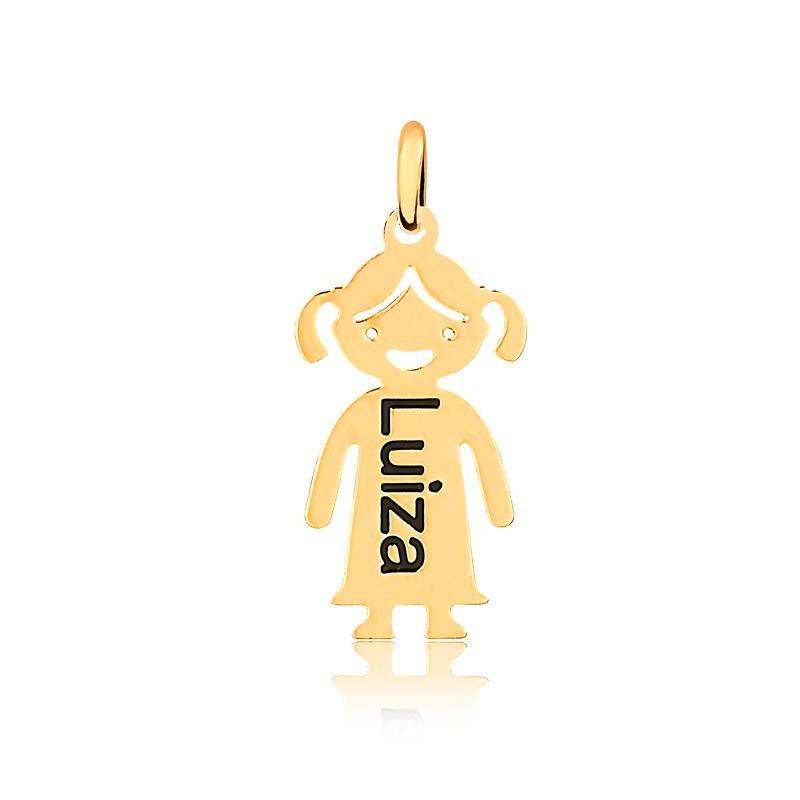 Corrente Personalizado 1 Nome Menina Folheado Ouro